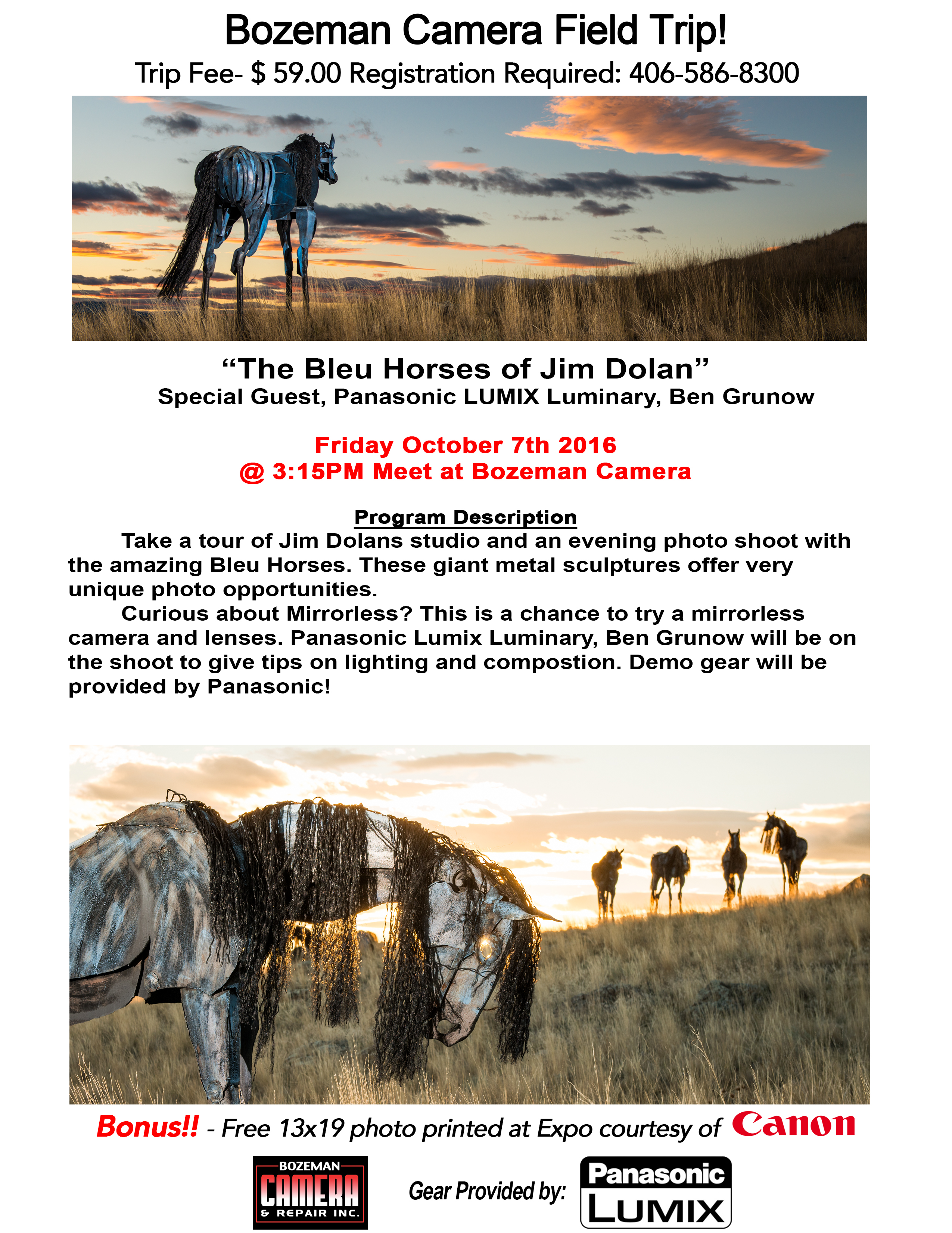 2016 Horse Photo Field Trip poster